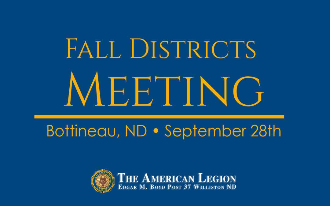American Legion Fall Districts Meeting
