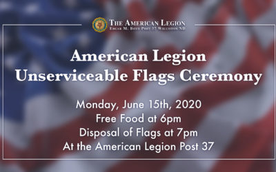American Legion Unserviceable Flags Ceremony